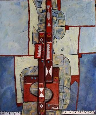 Abstract Mixed Media - Approach 7 by Mahmoud Alhsi