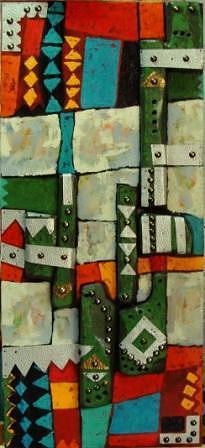 Abstract Mixed Media - Approach 8 by Mahmoud Alhsi