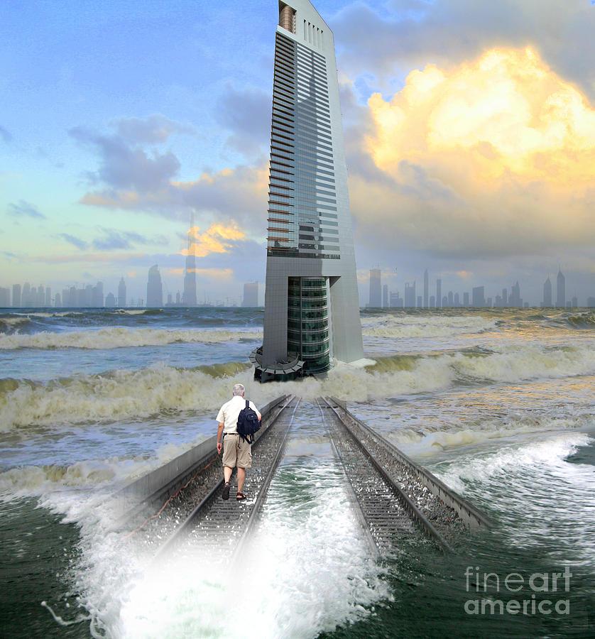 Dubai Photograph - Approach To Dubai by Ayesha DeLorenzo