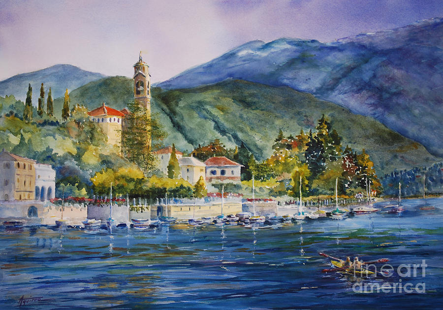 Italy Painting - Approaching Bellagio by Betsy Aguirre