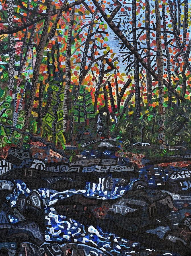 Approaching Big Bradley Falls Painting by Micah Mullen