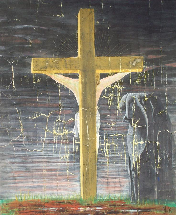 Cross Painting - Approaching Death by Norman F Jackson