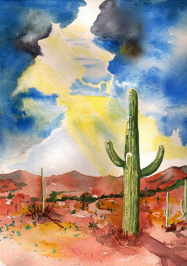 Monsoon Painting - Approaching Monsoon by Sharon Mick