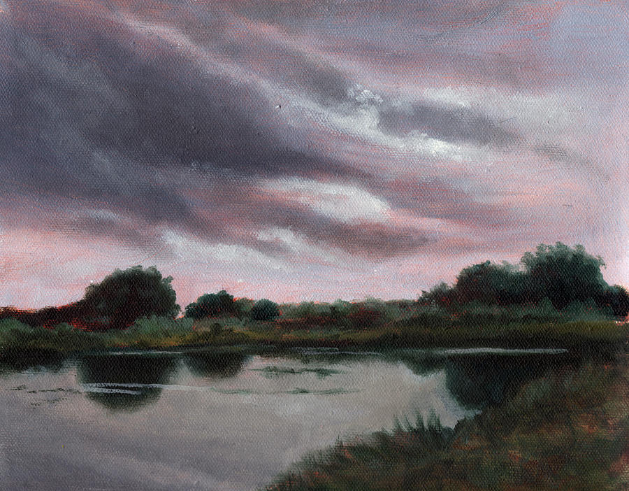 Florida Landscape Painting - Approaching Rain by Diane Martens