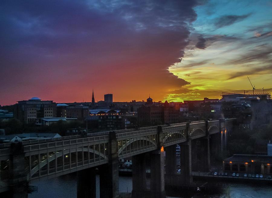 Sunset Photograph - Approaching Storm At Sunset by Jeffrey Brannan