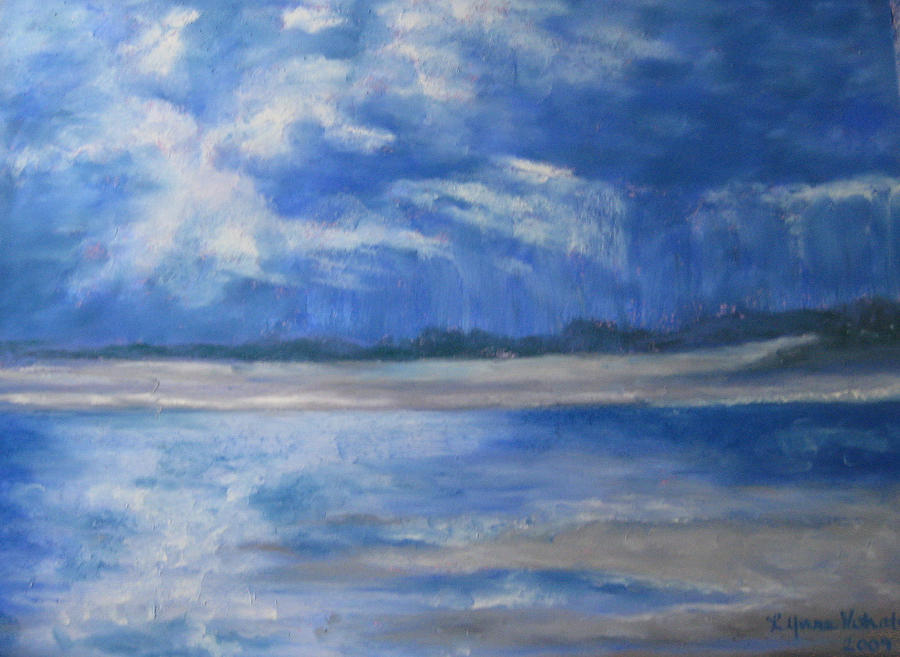 Popham Beach Painting - Approaching Storm by Lynne Vokatis
