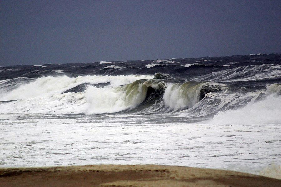 Ocean Photograph - Approaching Storm by Mary Haber