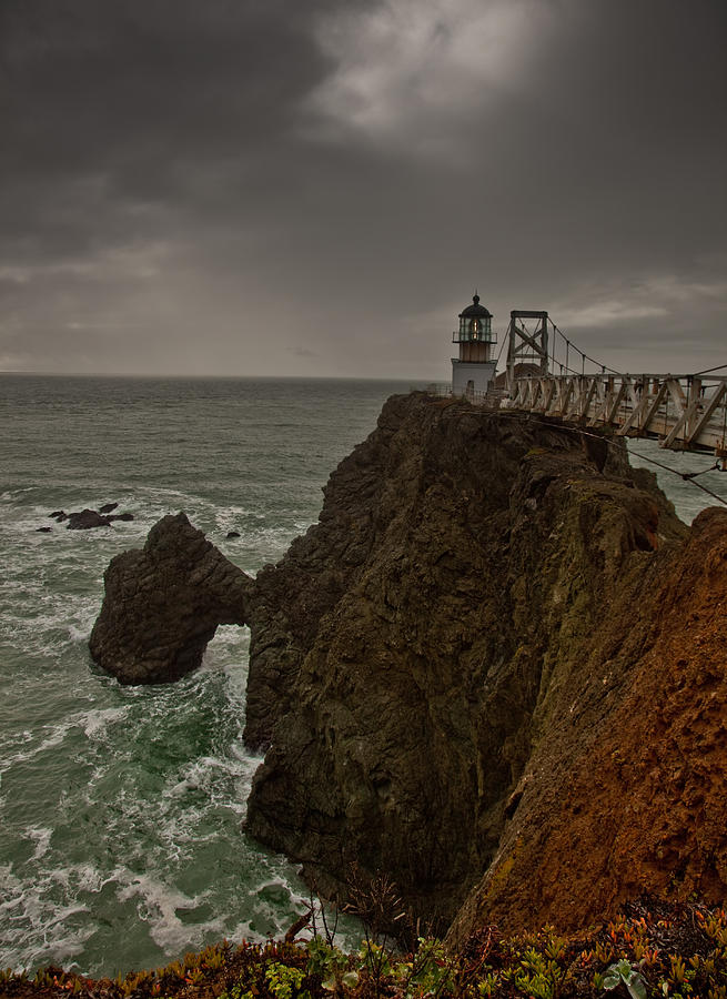 Lighthouse Photograph - Approaching Storm by Patrick  Flynn