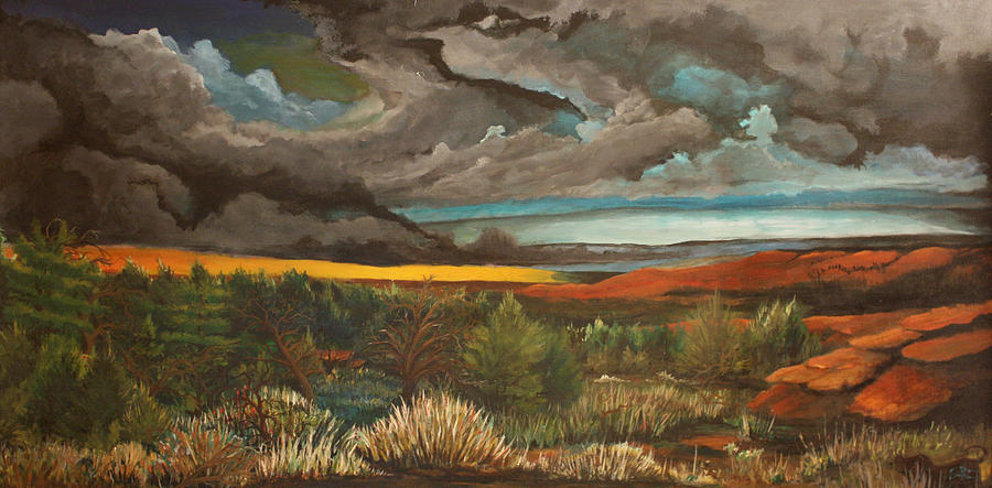 Landscape Painting - Approaching Storm by Shannon Rains