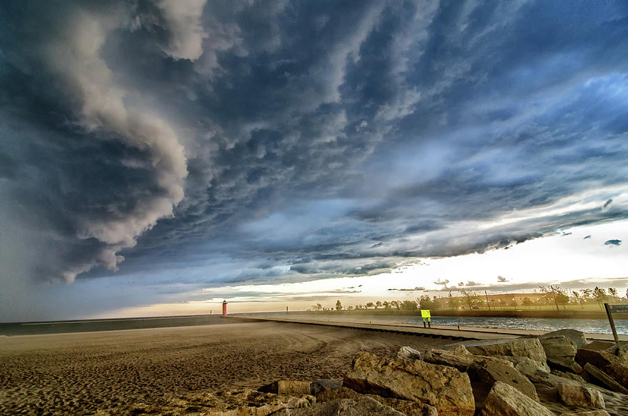 Approaching Storm by Steven Santamour