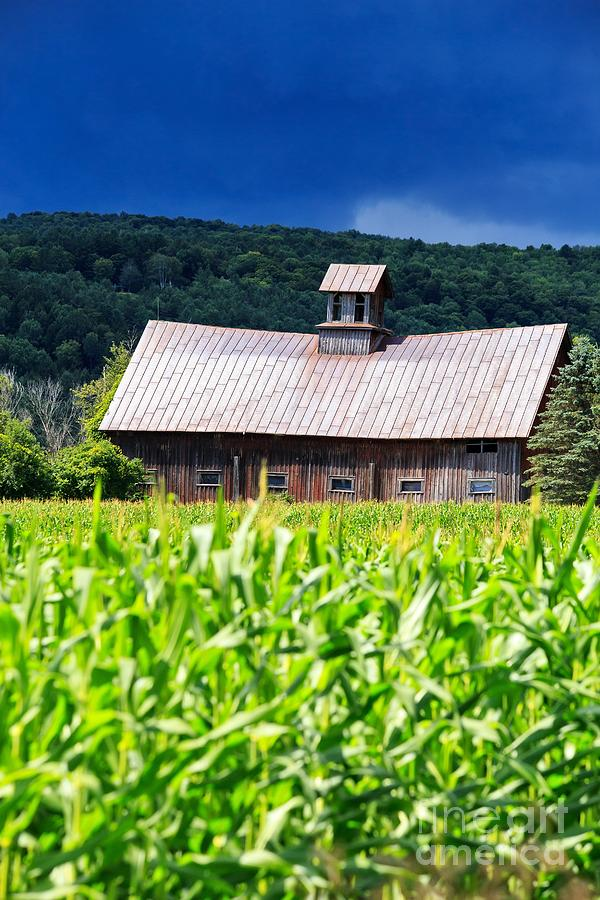 Approaching Storm Vermont Barn Photograph