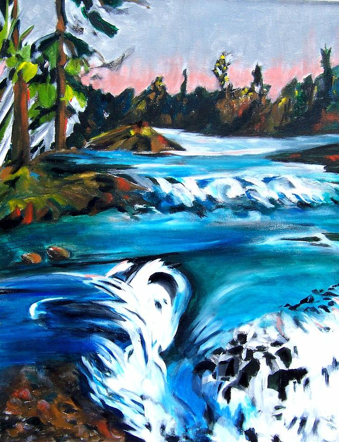 Approaching The Falls Painting by Patricia Bigelow