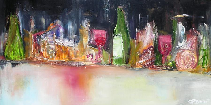 Apres Le Repas Painting by Patrice Brunet