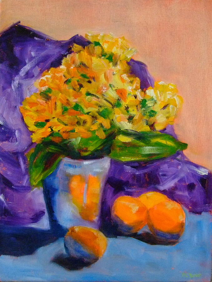 Apricots Painting - Apricots by Glynis Berger