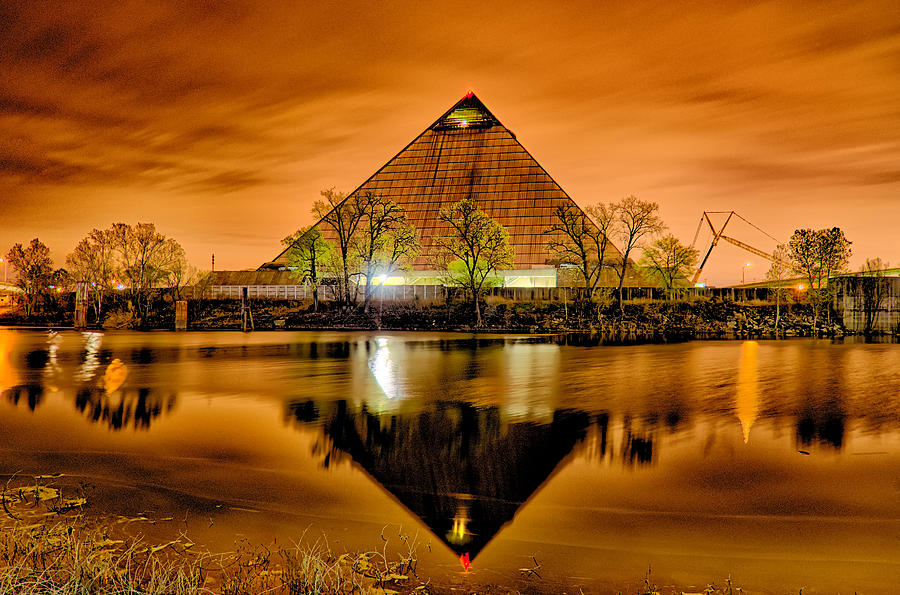Pyramid Photograph - April 2015 - The Pyramid Sports Arena In Memphis Tennessee by Alex Grichenko