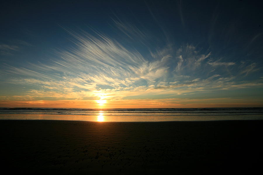 Sunset Photograph - April Beach Sunset by Mike Coverdale