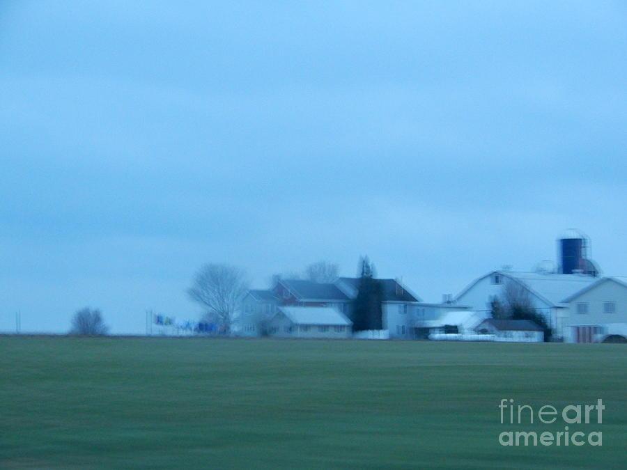 Amish Photograph - April Evening On An Amish Farm by Christine Clark