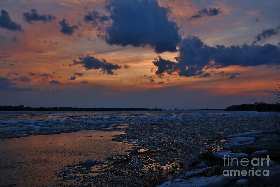 Ice Slabs Photograph - April Icy Niagara by Tony Lee