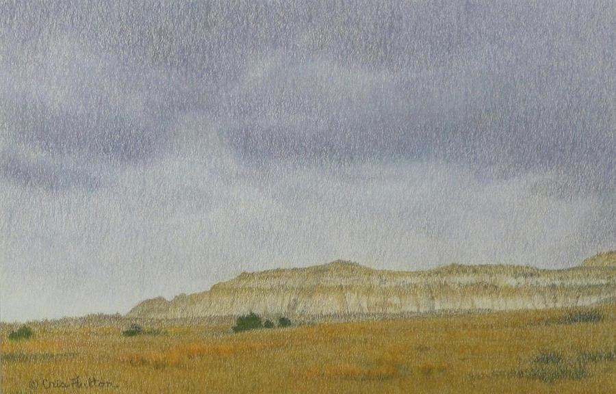 North Dakota Pastel - April In The Badlands by Cris Fulton