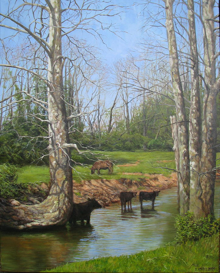Landscape Painting - April On The Elkhorn by Stephen Howell