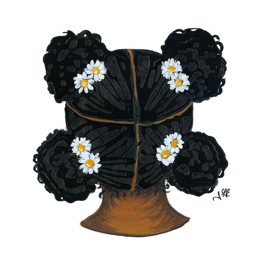 African American Girl Painting - Daisy by Sonja Griffin Evans