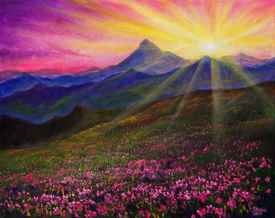 April Painting - April Sunset by Chris Steele