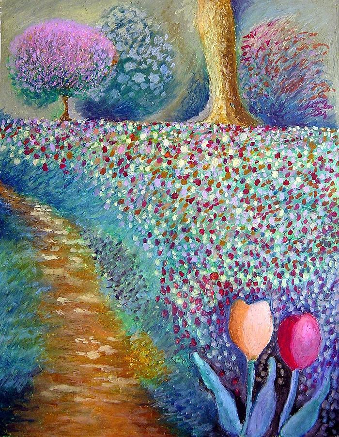 Landscape Painting - Aprils Bounty by Ronald Johnson