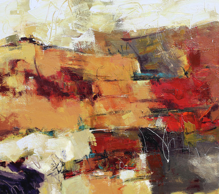 Abstract Painting Painting - Apropos by Elizabeth Chapman