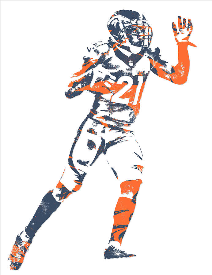 Aqib Talib Denver Broncos Pixel Art 7 Mixed Media by Joe Hamilton