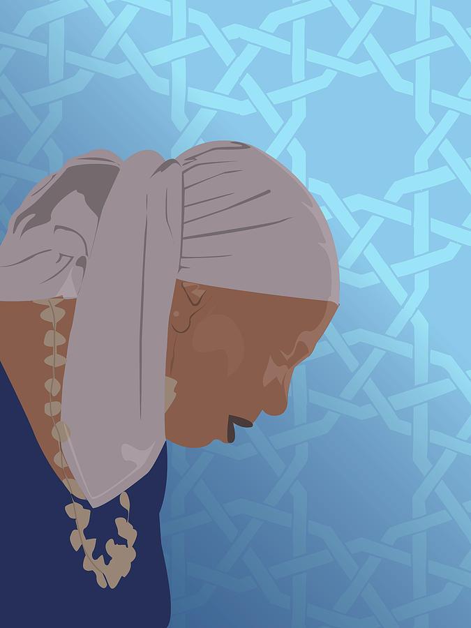 Muslim Digital Art - Aqilah  by Scheme Of Things