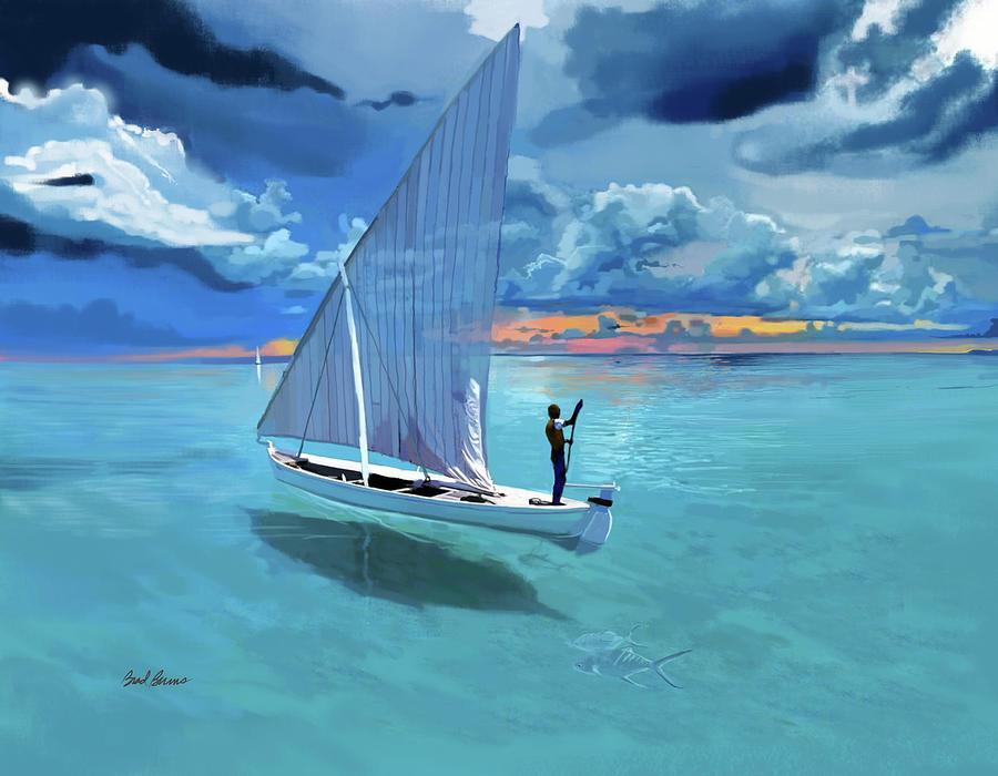 Aqua Blue And Ulua Painting