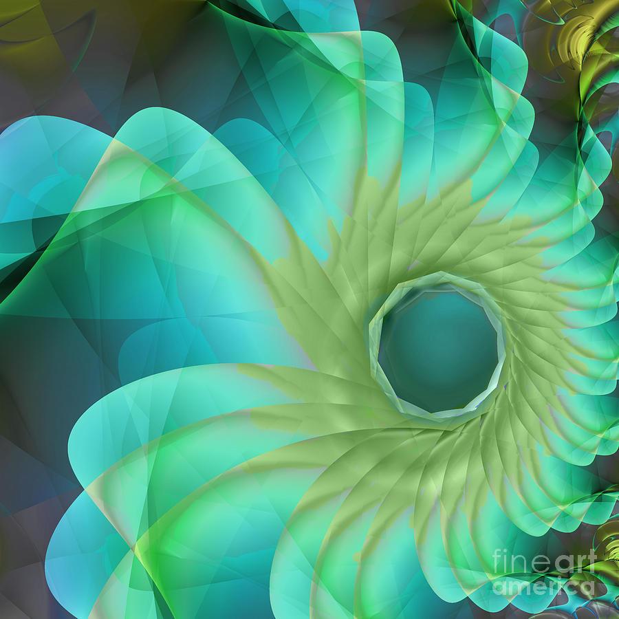 Aqua In Bloom Painting