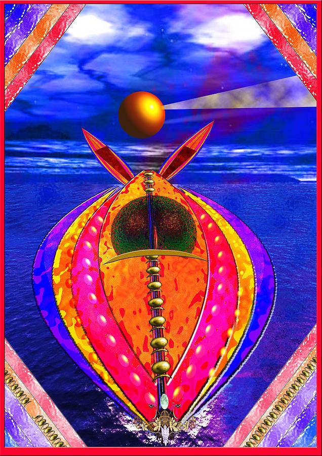 Boat Digital Art - Aqua Jet by Peter Jenkins