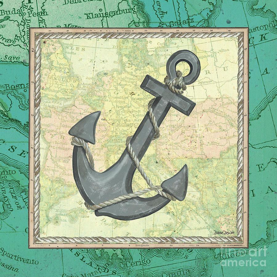 Aqua Maritime Anchor Painting
