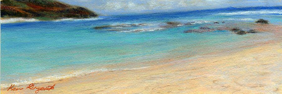 Coastal Decor Painting - Aqua Moloaa by Kenneth Grzesik