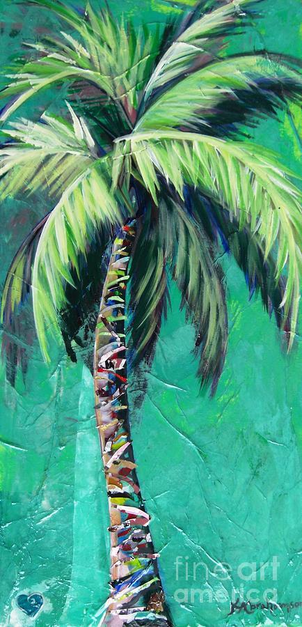 Aqua Palm by Kristen Abrahamson
