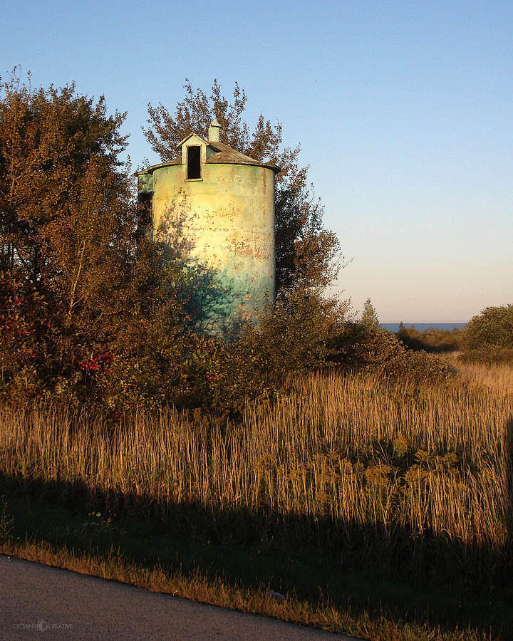 Silo Photograph - Aqua Silo by Tim Nyberg