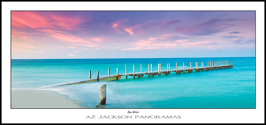 Quindalup Boat Ramp Photograph - Aqua Waters Poster Print by Az Jackson