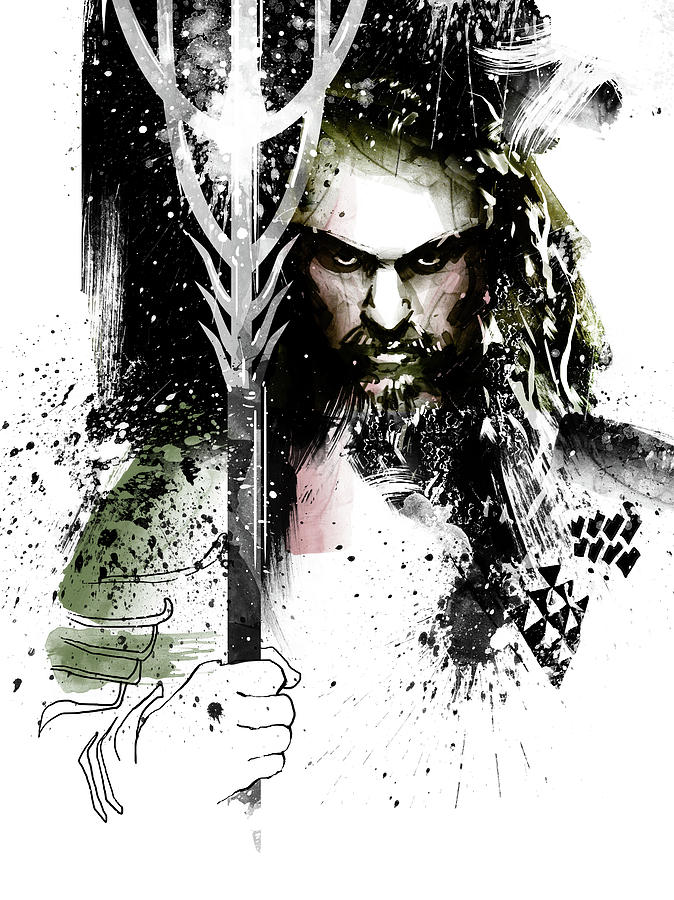 Aquaman Painting - Aquaman by Unique Drawing