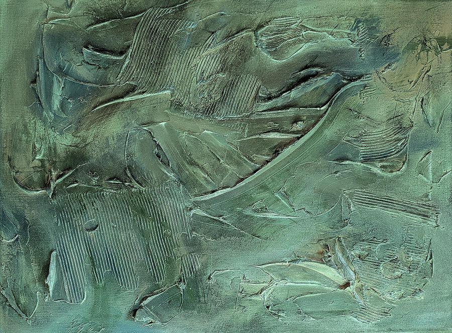 Abstract Painting Painting - Aquamarine by Trisha Pena