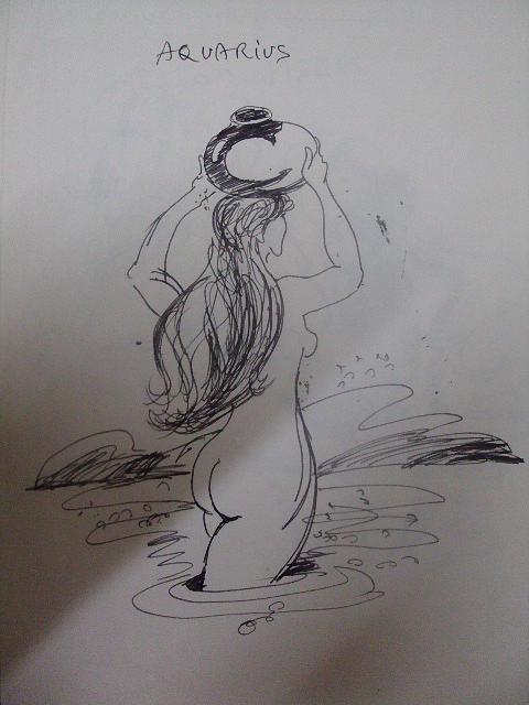 22 Drawing - Aquarious by Vivek Gangwani