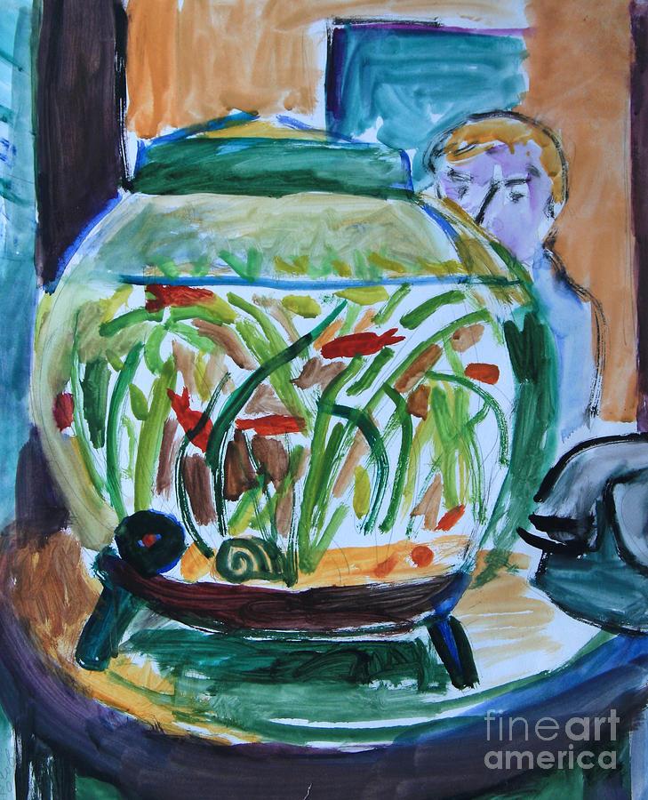 Aquarium Painting - Aquarium by Andrey Semionov