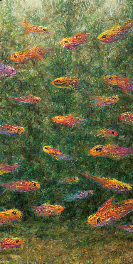 Aquarium Painting - Aquarium by James W Johnson
