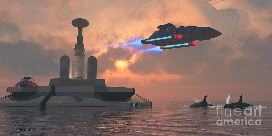 Spacecraft Painting - Aquarius Major by Corey Ford