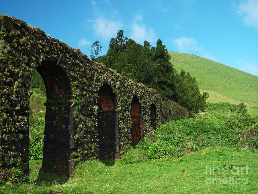 Ancient Photograph - Aqueduct by Gaspar Avila