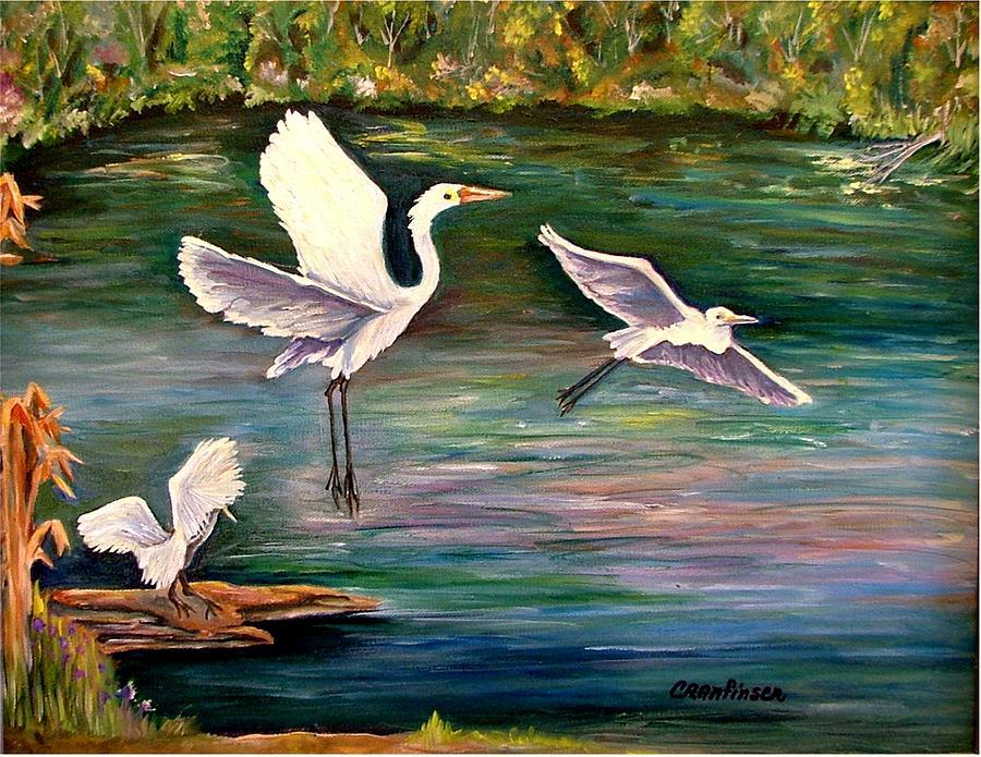 Egrets Painting - Arabesque by Carol Allen Anfinsen