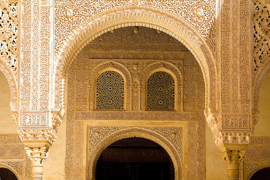 Cuarto Photograph - Arabesque Ornamental Designs At The Casa Real In The Nasrid Palaces At The Alhambra by Mal Bray