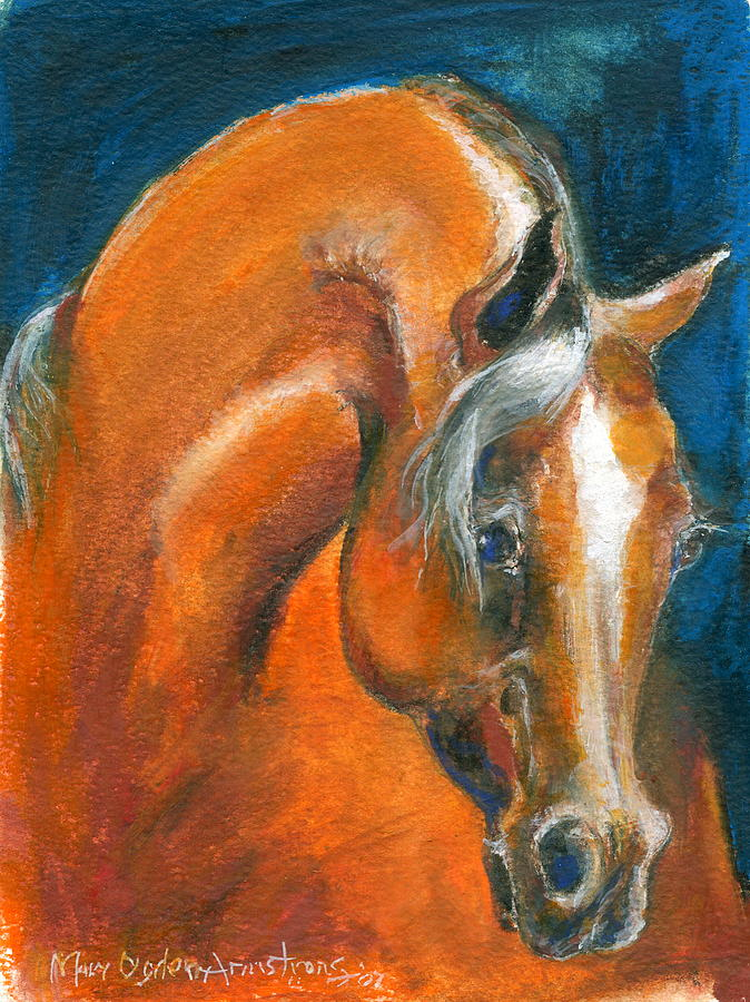 Arabian Painting - Arabian 1 by Mary Armstrong