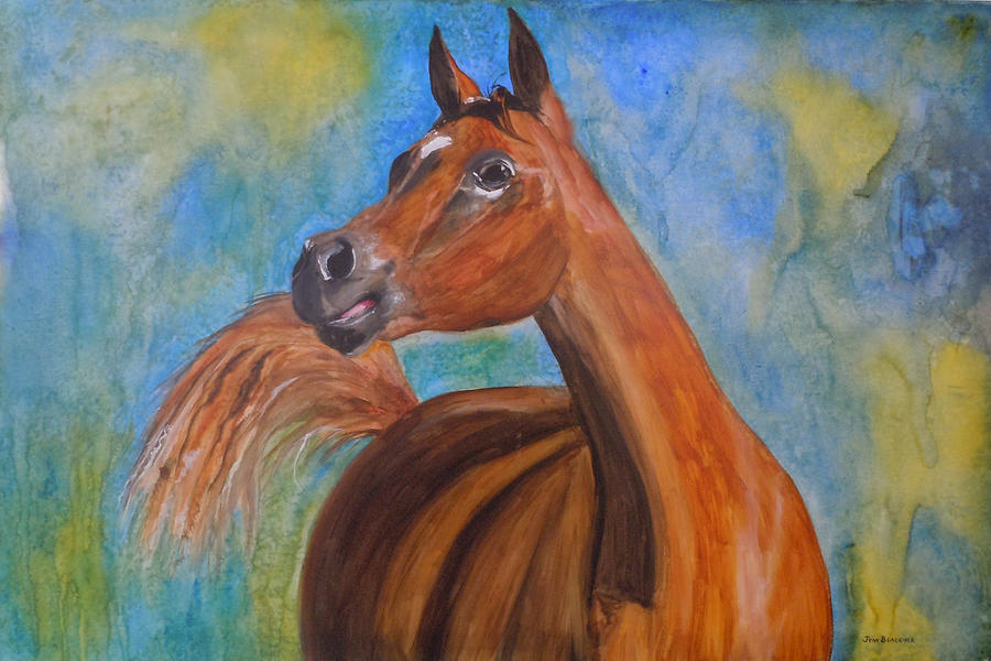 Horse Painting - Arabian Beauty by Jean Blackmer