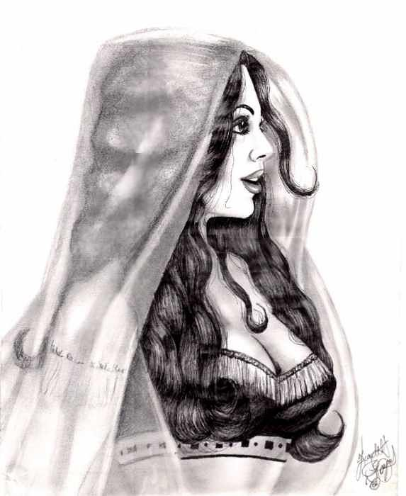 Figure Drawing - Arabian Beauty by Scarlett Royal
